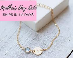 s day necklace with birthstone charms jewelry birthstone etsy