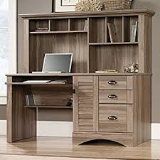 Desk With Bed Amazon Com Achieve L Shaped Desk With Hutch Kitchen U0026 Dining
