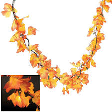 fall garland autumn leaves lighted garland wreaths and floral