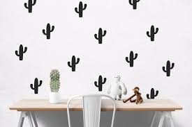 geometric wall decal etsy cactus decal wall decals for walls sticker