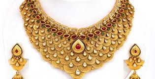 wedding gold set gold necklace set designs