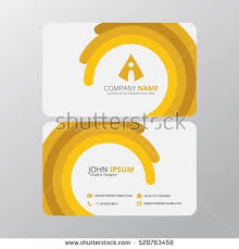 modern creative clean business card design stock vector 520763458