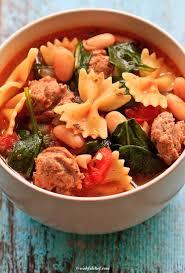 Italian Soup by Healthy Italian Winter Soup With Turkey Sausage Wishful Chef