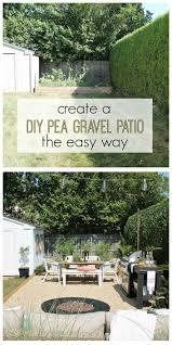 Easy Backyard Patio Create A Diy Pea Gravel Patio The Easy Way City Farmhouse
