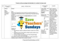 fractions on a number line ks2 worksheets lesson plans