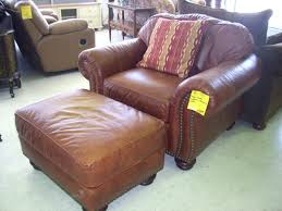 Henredon Leather Sofa Chairs Amusing Henredon Leather Chair And Half Mathis Brothers