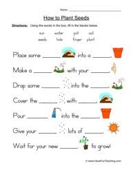ideas of first grade science worksheets on plants on resume
