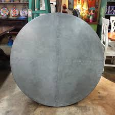 Zinc Table Top Dining Tables Metal Top Round Dining Table Galvanized Metal Top