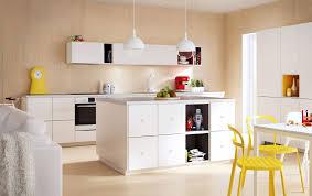 Modern Ikea Kitchen Ideas A Bright Kitchen Idea With Custom Character Ikea