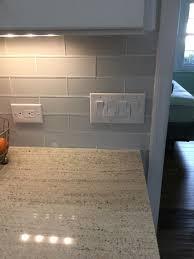 Outlet Cover Plates On Glass Tile Backsplash - Covering tile backsplash
