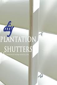 Shutter Blinds Diy Diy Plantation Shutters Tutorials Learning And Diy Plantation