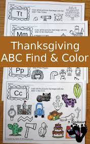 abc find color for thanksgiving 3 dinosaurs
