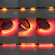 led light strip turn signal universal flexible led motorcycle brake lights turn signal light
