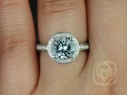 boho wedding ring rosados box 8mm white gold aquamarine pave halo