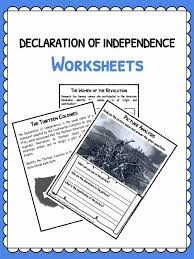 declaration of independence facts u0026 worksheets study resource