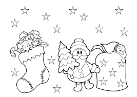 christmas coloring pages preschoolers preschool