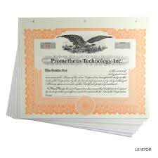 loose blank stock certificates with stubs