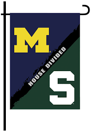 Michigans Flag Amazon Com Ncaa Michigan Michigan State 2 Sided Garden Flag