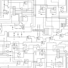 vector seamless electrical circuit diagram pattern royalty free