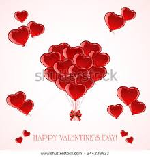 valentines baloons balloons form valentines heart on stock vector 243991918