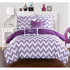 X Long Twin Bedding Sets by Chic Home 7 Piece Foxville Pinch Pleated And Ruffled Chevron Print