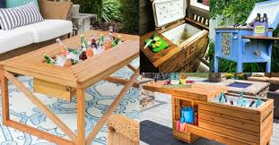 remodelaholic brilliant diy cooler tables for the patio with
