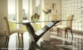 Square Glass Dining Table Square Glass Dining Table And White Wall Design