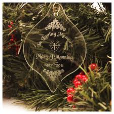 personalized memorial glass ornament the catholic company