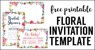 free invitations templates floral borders invitations free printable invitation templates