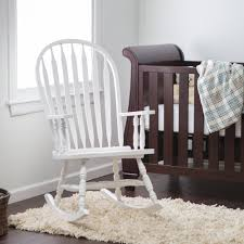 Nursery Room Rocking Chair by White Rocking Chair Wood Beautiful And Comfortable White Rocking