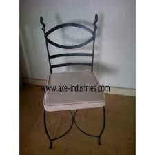 chaises fer forg chaise fer forgé marius coussin compris chaises en fer forgé