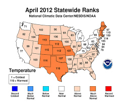 us weather map for april year 2012 temperature rankings data lincoln weather and climate