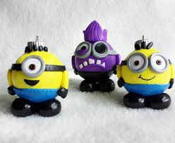 ornaments despicable me minions handmade glass covered
