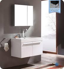 Acrylic Bathroom Storage 36 Vista White Modern Bathroom Vanity With Medicine Cabinet