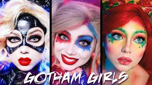 catwoman makeup halloween gotham girls makeup compilation harley quinn poison ivy