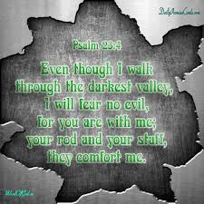 Your Rod And Your Staff Comfort Me Psalms 23 4 U2013 English Promise Card 17