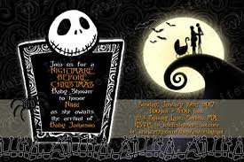 nightmare before christmas wedding invitations birthday invites stylish nightmare before christmas birthday