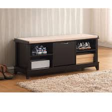 Solid Wood Entryway Storage Bench Storage Bench With Cushion Seat In Rugs Storage Bench With