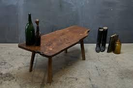 Walnut Slab Table by Usa C 1940s Vintage Laraby Free Edge Walnut Slab Coffee Table