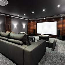 Home Theater Design Los Angeles 50 Home Theater And Media Room Ideas Wood Panel Walls Dark