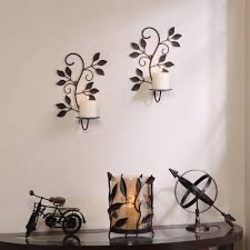 better homes and gardens scrolled leaves wall sconce pillar