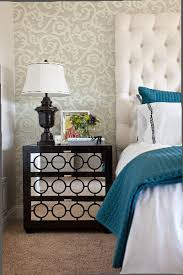 Mirrored Dressers And Nightstands Mirrored Nightstand Contemporary Bedroom Carlyle Designs
