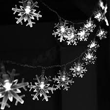 snowflake string of lights snowflake string lights outdoor amazon com