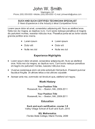 Resume Templates Free Download Doc Professional Resume Template Free Download