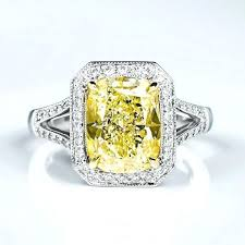 canary yellow engagement rings canary yellow ring fancy light yellow cushion