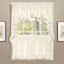 Kitchen Valances And Tiers by Vienna Eyelet Kitchen U0026 Tier Curtains United Curtain