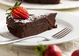 easy flourless chocolate cake just a bit of bacon