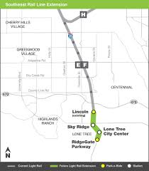 denver light rail expansion map rtd e and f line extensions