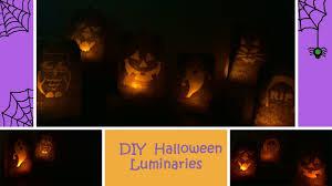 diy halloween luminaries cheap and simple youtube