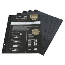 sticky photo album pages ncl a4 self adhesive photo album refills 5 pack black officeworks